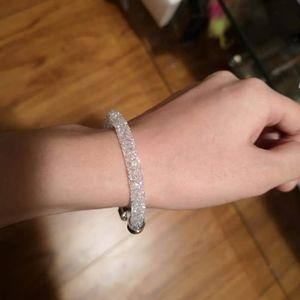 Swarovski White Crystaldust Cuff Bracelet